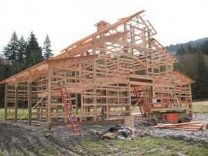 barn being built by Spane Buildings in Burlington WA