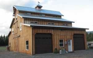 Barn built by Spane Buildings in Granite Falls WA