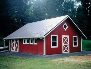 Barn built by Spane Buildings in Lewis County WA