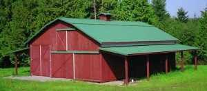 Barn built by Spane Buildings in Stanwood WA