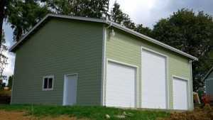 Custom hobby garage built by Spane Buildings in Snohomish WA