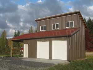 Garage built by Spane Buildings in Burlington WA