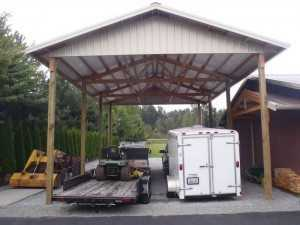Garage built by Spane Buildings in Conway WA