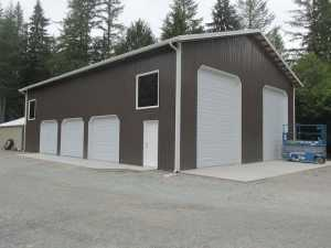 Garage built by Spane Buildings in Coupeville WA