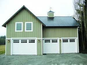 Garage built by Spane Buildings in Everett WA