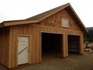 Garage built by Spane Buildings in Fife Washington State