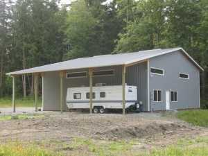 Garage built by Spane Buildings in Island County WA