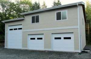 Garage built by Spane Buildings in Kent WA