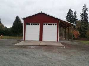 Garage built by Spane Buildings in Lake McMurray WA