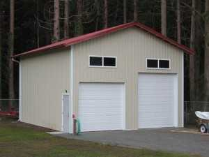Garage built by Spane Buildings in Lynden WA