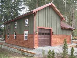 Garage built by Spane Buildings in Maple Valley WA