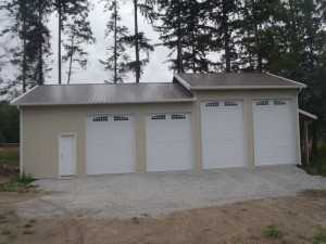 Garage built by Spane Buildings in Mt. Vernon WA