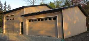 Garage built by Spane Buildings in Pierce County Washington