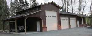 Garage built by Spane Buildings in Puyallup WA