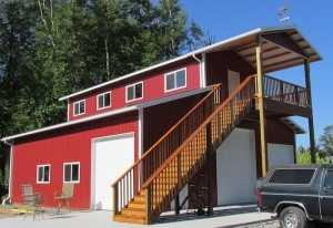 Garage built by Spane Buildings in Puyallup Washington