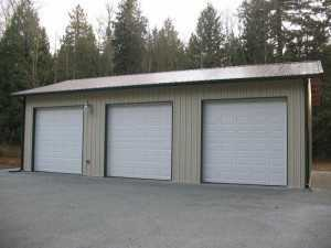 Garage built by Spane Buildings in Skagit County WA