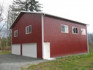 Garage built by Spane Buildings in Skagit County Washington
