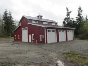 Garage built by Spane Buildings in Snohomish County WA