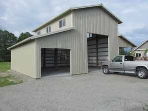Garage built by Spane Buildings in Snohomish County Washington