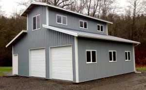 Garage built by Spane Buildings in Tacoma WA