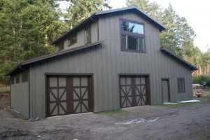 Garage built by Spane Buildings in Whatcom County WA