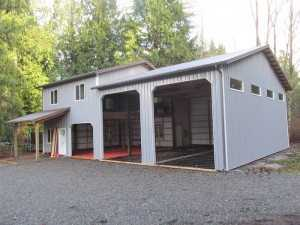 Garage built by Spane Buildings in Woodinville WA