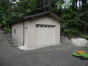 Garage built by Spane Buildings near Washington State Ferrie Terminal