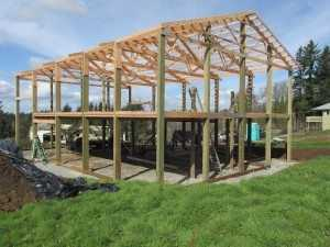 Garage going up Skagit Valley WA by Spane Buildings