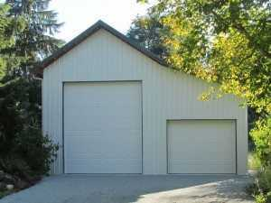 Hobby garage built by Spane Buildings in Skagit County WA