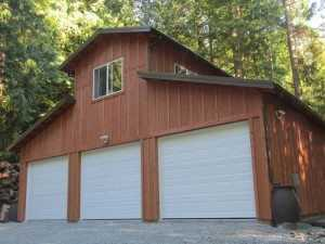 Monitor style garage built by Spane Buildings in Skagit County WA