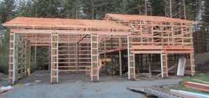 New garage going up in Puyallup WA by Spane Buildings