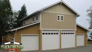 Post frame garage Camano Island Washington by Spane Buildings