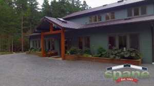 Spane Buildings front view hobby garage Orcas Island WA