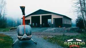 Spane Buildings pole building garage for a helicopter in Skagit County