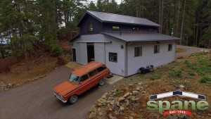 Spane Buildings post frame garage Orcas Island WA
