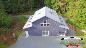 Spane garage built on Whidbey Island WA