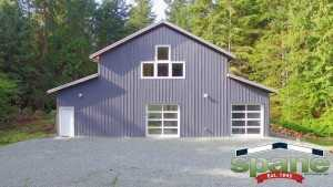 Spane motorcycle garage built on Whidbey Island WA
