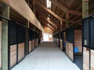 Stalls built by Spane Buildings in Monroe WA
