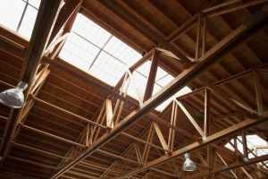The ceiling of an arena built by Spane Buildings the experienced stable builder in Snohomish Washington