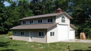 This pile garage and dwelling was built by Spane Buildings in Snohomish County Washington