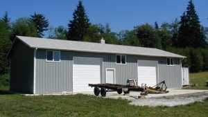 This pole garage built in Pierce County was constructed by Spane Buildings