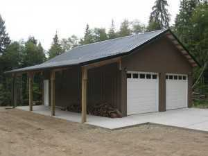 Tow car garage built by Spane Buildings in Skagit County WA