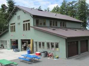 Wulff hobby garage on Orcas Island WA by Spane Buildings