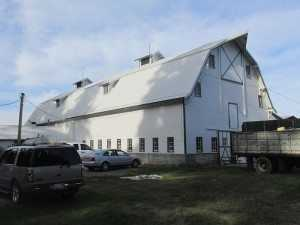 A barn reroof by Spane Buildings by the roofing team after
